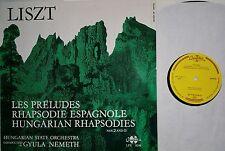 LISZT Preludes Rhapsodie Espagnole ua Hungarian SO G. Nemeth LP Qualiton SLPX NM