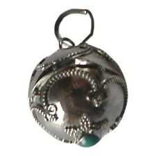 Sterling Silver Turquoise Angel Caller Harmony Ball Pendant