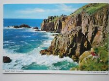 POSTCARD CORNWALL LAND'S END - VIEW OVER THE ROCKS