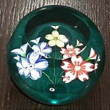 "Whitefriars ""Triple Fancy"" Colored Flowers Ltd Ed Paperweight New In Box w COA"