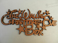 Disney Style Personalised Family 'Christmas Eve Box' Sign Wood Stars Craft Sign.
