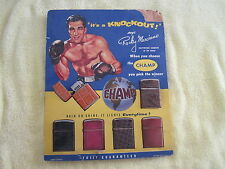 Vintage ROCKY MARCIANO  Champ Lighters Store Display With  Lighters!