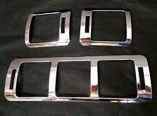 1996 - 2005 ML Class W163 Front Air Vent Frame Chrome Cover Rim for Mercedes x3