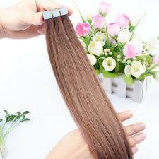 16-26 inches 8A Remy Human Hair Extensions Weave Seamless Tape In Skin Weft hair