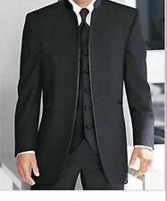 2016 Fashion Black Groom Tuxedo Men's Wedding Suit Groomsman Best Formal Suit