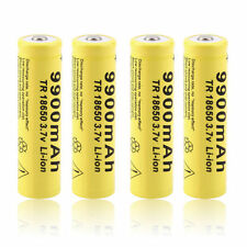 4 X 3.7V 18650 9900mah Li-ion Rechargeable Battery For LED Flashlight Torch New!