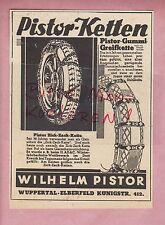 WUPPERTAL-ELBERFELD, Werbung 1933, Wilhelm Pistor Auto-Räder-Ketten