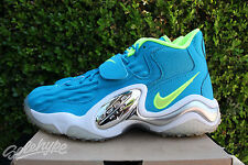 NIKE AIR ZOOM TURF JET SZ 10 NEO TURQUOISE VOLTAGE WHITE 554989 400