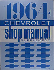 Best 1964 Impala Bel Air Biscayne Shop Manual 64 Chevy Chevrolet Repair Service