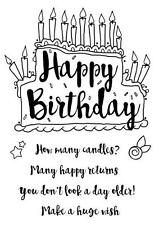 """Woodware Clear Magic stamp set """"Birthday Cake"""" FRS628"""