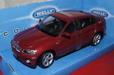 BMW X6 rot metallic 1:24 Welly neu & OVP 24004W