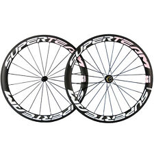 Superteam Carbon Road Wheels Clincher 50mm Race Bicycle Carbon Wheelset 700C