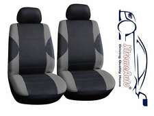 6 PCE Paddington Black/Grey Front Car Seat Covers For VW Bora Golf Polo Passat