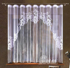 String Curtain Panel White Net Window Door Fly Screen Tassels Fringe Blind