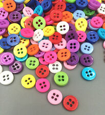 200 Pcs Random Mixed Resin 4 Holes Buttons for Sewing and Scrapbooking 8.5mm