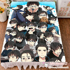 "New Anime YURI!!! on ICE Cosplay Flat Bed Sheet Bedding Blanket Gift 79x59"" #K46"