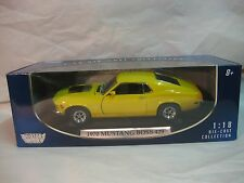 1970 Ford Mustang Boss 429 In A Yellow 118 Scale Diecast From Motor Max    dc238