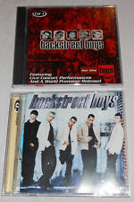 "Set of 2 Backstreet Boys CDs ""For the Fans"" NEW & ""Backstreet Boys"" EUC"