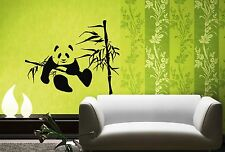 Wall Stickers Vinyl Decal Bamboo Panda Funny Animal Lazy ig229