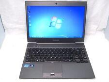 """Toshiba Portege Z830 13.3"""" Ultrabook Computer i7-2677M 1.8Ghz 4GB 128GB SSD Win7"""