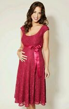 Maternity eliza tiffany rose dress dark pink - size S