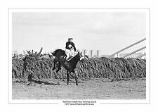 RED RUM TOMMY STACK 1977 GRAND NATIONAL HORSE RACING A4 PHOTO AINTREE