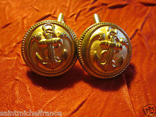 Boutons de manchette Cufflink collection 21MM TROUPES MARINE COLONIALE MILITAIRE