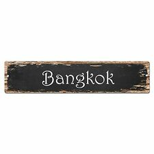 SP0126 Bangkok Street Sign Bar Store Shop Pub Cafe Home Room Shabby Chic Decor