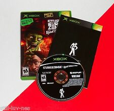 Original Xbox --- STUBBS the ZOMBIE --- Complete w/ Manual ---VG---