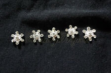 (5pcs) silver 3D snowflakes rhinestone nail art charms for nails, acrylic, gel