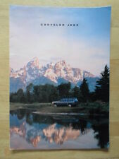 JEEP RANGE 1992-93 UK Mkt Sales Brochure with Dodge Viper - Wrangler Cherokee