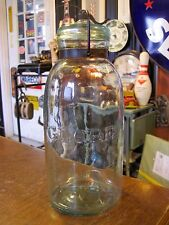 Antique VTG Hemingray's  Aqua Green  GLOBE  Fruit Canning Jar 1/2 gallon Large