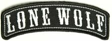 Lone Wolf Mini Rocker Embroidered Biker Patch