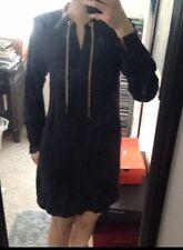 *NwT* Michael Kors Navy Blue Silky Long Sleeve Chain Link Shirt Dress Sz XS $225