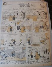 Tom Sawyer and Huck Finn Sunday by Clare Dwigs from 5/11/1919 Full Page Size