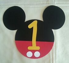 15 DIY Mickey Mouse invitations with Age number, Free Shipping USA