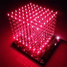 1PCS NEW 3D LightSquared DIY Kit 8x8x8 3mm LED Cube Red Ray LED