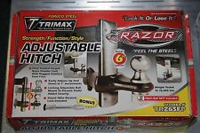 "TRIMAX TRZ6SFP RAZOR STAINLESS FACE 6"" ADJUSTABLE MOUNT TOW HITCH FREE TOW BALL"