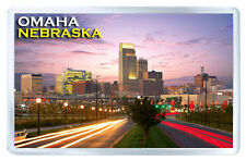OMAHA NEBRASKA USA FRIDGE MAGNET SOUVENIR IMAN NEVERA