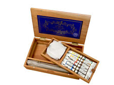 Exclusive Winsor & Newton Cherry Wood Artists Water Colour Tube Box