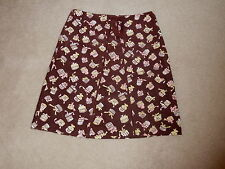 ODILLE ANTHROPOLOGIE BROWN A LINE KNEE LENGTH THIN CORDUROY COTTON SKIRT SIZE 6
