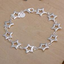Damenarmband Sterne 20cm Damen Armband pl. mit Sterlingsilber DA183 T::A Neu