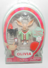 New Olivia the Pig Pet Doctor Poseable Figure & 5 Play Pieces -