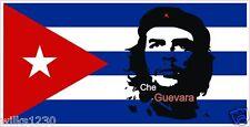 2 che guevara cuban flag decals self adhesive vinyl sticker badge car silhouette