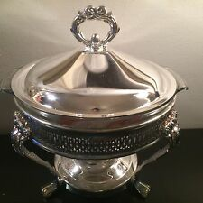 International Silver Co Silver Plate Food Warmer & Ovenproof Bowl New In Box