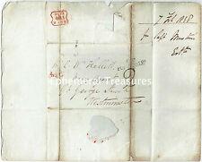 1838 todo a Hallett, Navy agente, Londres. T.P. Portugal St cancelar