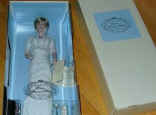 Franklin Mint Princess of Wales - Diana Porcelain Doll *NIB* White Bead Gown
