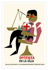"Cuban movie Poster 4 film""DENTIST Chair""Perfect for Office or Gift to doctor.Art"