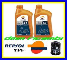 Kit Tagliando PIAGGIO BEVERLY 300 ie 11 12 Filtro Olio 2 x REPSOL 5W40 2011 2012