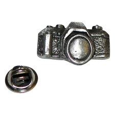 Camera Photographers British Pewter Pin Badge Tie Pin / Lapel Badge XDHLP1182